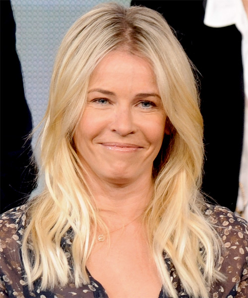 Chelsea Handler Long Straight Casual Hairstyle Light