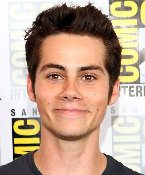 Dylan OBrien Short Straight Casual Hairstyle Dark