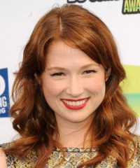 Ellie Kemper Long Wavy Casual Hairstyle - Copper Brunette ...