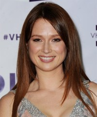 Ellie Kemper Long Straight Casual Hairstyle - Auburn ...