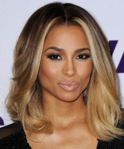 ciara medium straight formal hairstyle