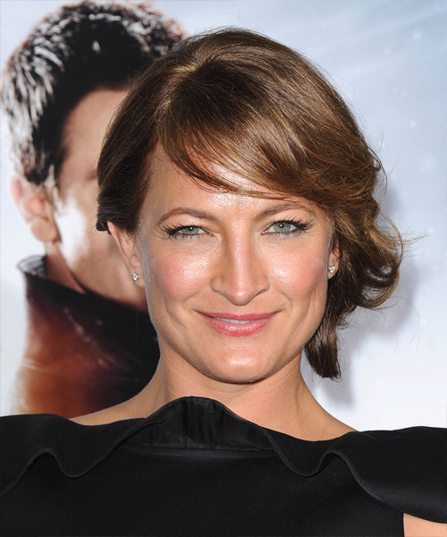 Zoe Bell Formal Long Straight Updo Hairstyle With Side
