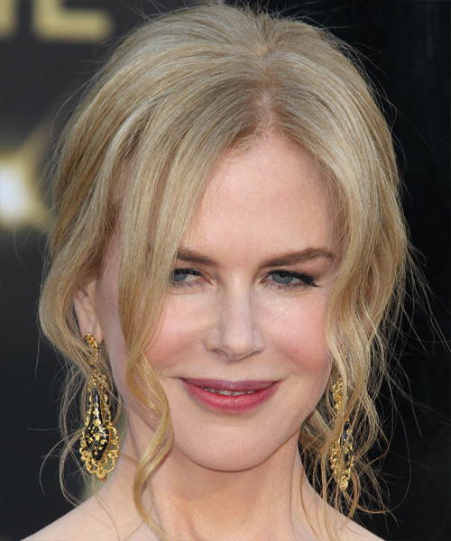 Nicole Kidman Long Curly Formal Updo Hairstyle Light