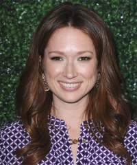 Ellie Kemper Long Wavy Formal Hairstyle - Chocolate ...