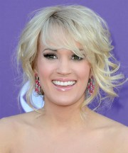 carrie underwood long curly formal