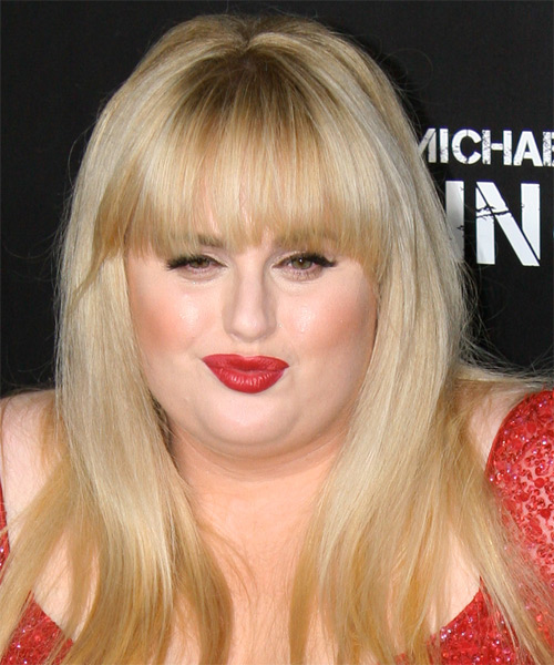 Rebel Wilson Long Straight Casual Hairstyle With Blunt Cut