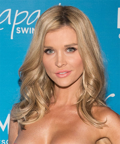 Joanna Krupa Long Wavy Casual Hairstyle Champagne Blonde