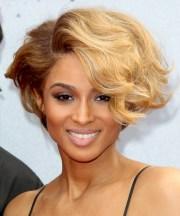 ciara short wavy formal hairstyle