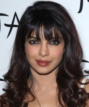 celebrity front bang hairstyles