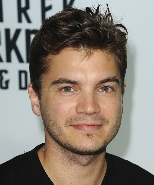 Emile Hirsch Short Straight Casual Hairstyle Dark