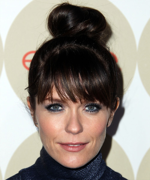 Katie Aselton Casual Long Straight Updo Hairstyle