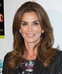 Cindy Crawford Long Straight Casual Hairstyle - Brunette ...