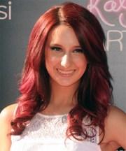 brooklyn haley long wavy red hairstyle