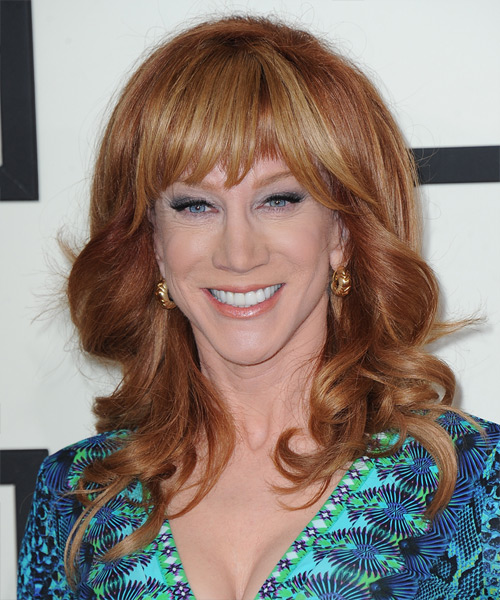 Kathy Griffin Formal Long Wavy Hairstyle With Blunt Cut