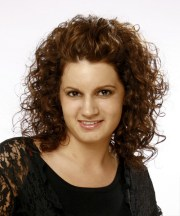 medium curly casual hairstyle