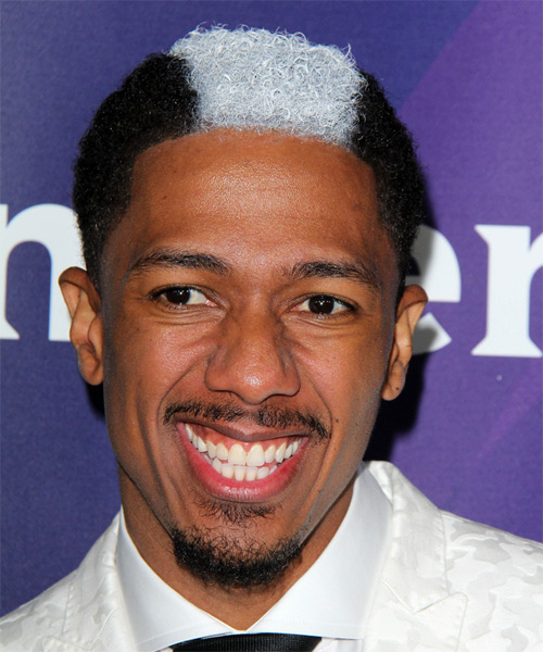 Nick Cannon Haircut : cannon, haircut, Cannon, Short, Curly, Black, White, Two-Tone, Hairstyle