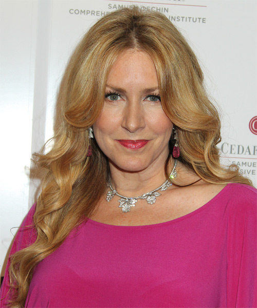 Joely Fisher Long Wavy Formal Hairstyle Blonde Hair Color