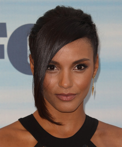 Jessica Lucas Formal Long Straight Updo Hairstyle With