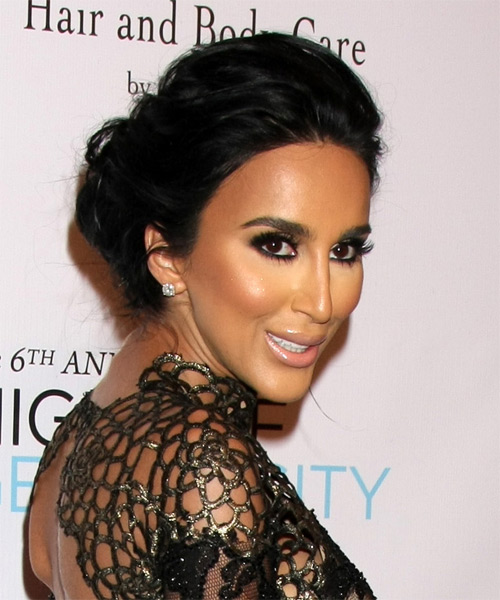 Lilly Ghalichi Long Wavy Formal Updo Hairstyle Black