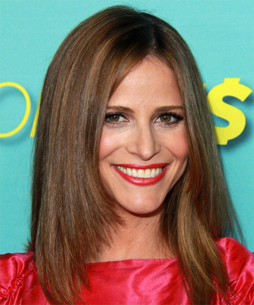 Andrea Savage Long Straight Formal Hairstyle Auburn