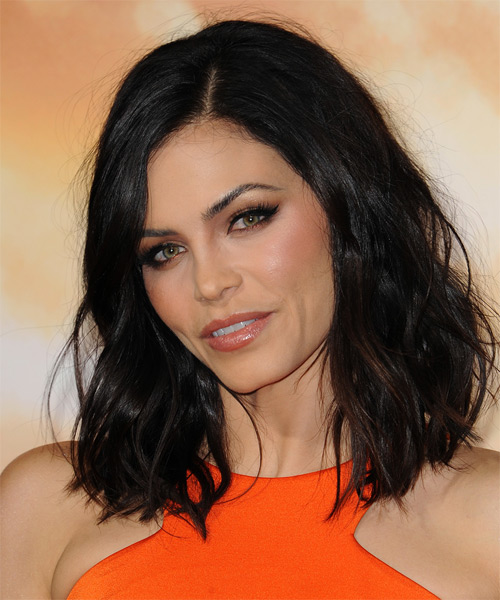 Jenna Dewan Medium Wavy Casual Hairstyle Black Hair Color