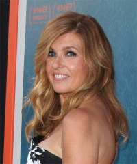 Connie Britton Long Wavy Formal Hairstyle with Side Swept ...