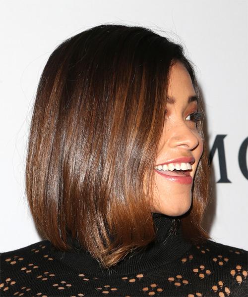 Gina Rodriguez Medium Straight Casual Bob Hairstyle