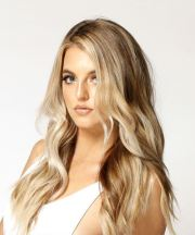 long wavy casual hairstyle - light