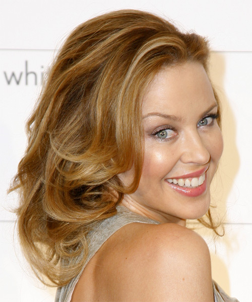 Kylie Minogue Formal Long Wavy Hairstyle