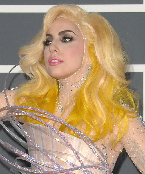 Lady GaGa Long Wavy Alternative Hairstyle