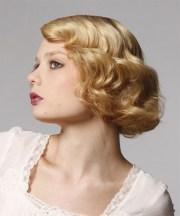 short wavy light golden blonde