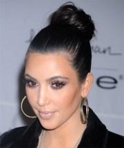 kim kardashian formal long straight