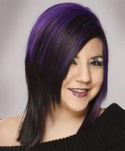 alternative medium straight hairstyle