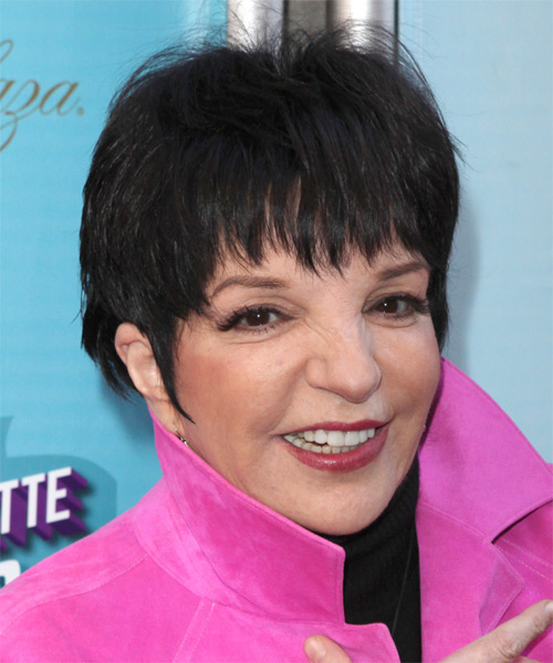 Liza Minnelli Casual Short Straight Hairstyle With Layered