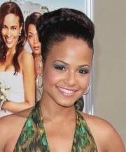 christina milian formal long curly