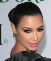 kim kardashian formal long curly