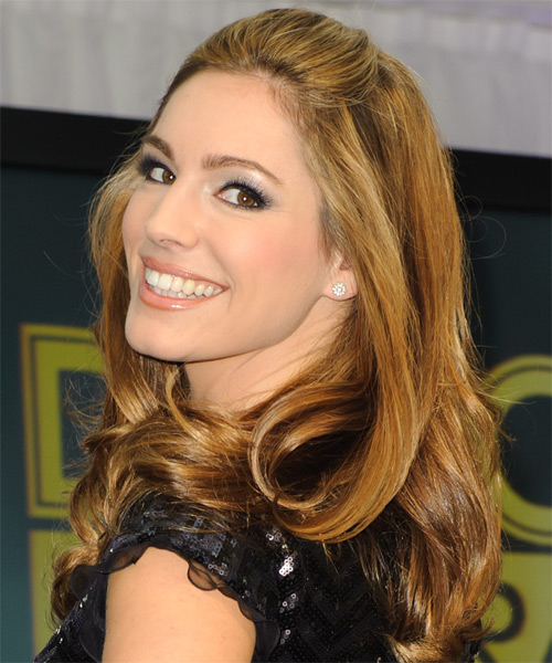 Kelly Brook Medium Wavy Formal Hairstyle Dark Blonde