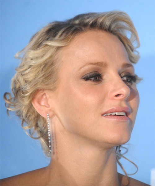 Princess Charlene Of Monaco Long Curly Formal Updo