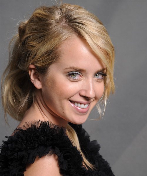 Megan Park Long Curly Formal Updo Hairstyle With Side