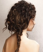 long curly casual updo hairstyle