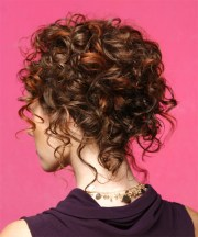 long curly mahogany brunette updo