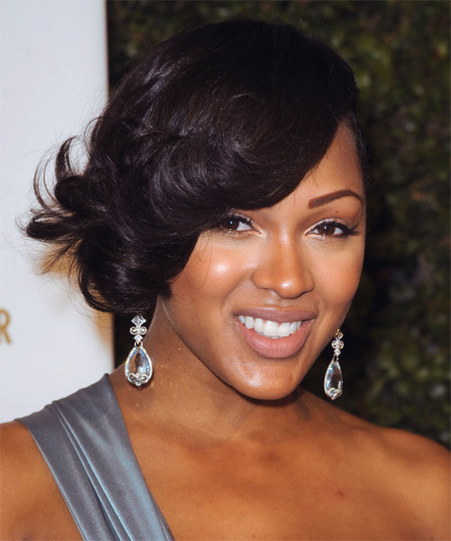 Meagan Good Short Wavy Formal Hairstyle Black TheHairStyler Com