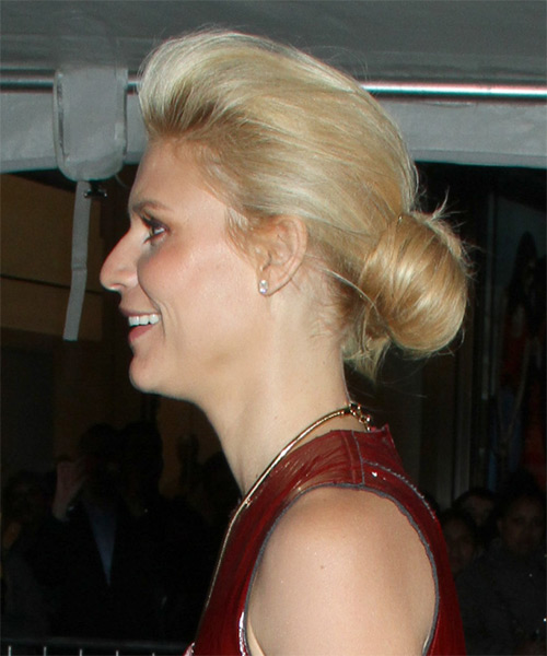 Claire Danes Long Straight Formal Updo Hairstyle Golden
