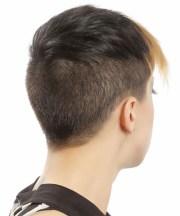 short straight dark brunette