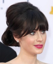 zooey deschanel formal long straight