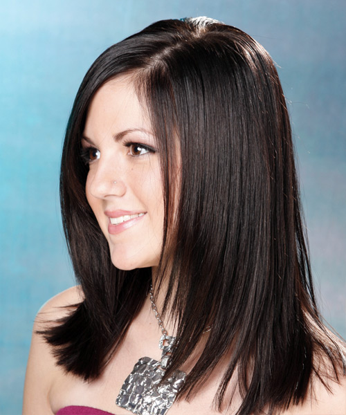 Formal Long Straight Hairstyle Mocha Hair Color