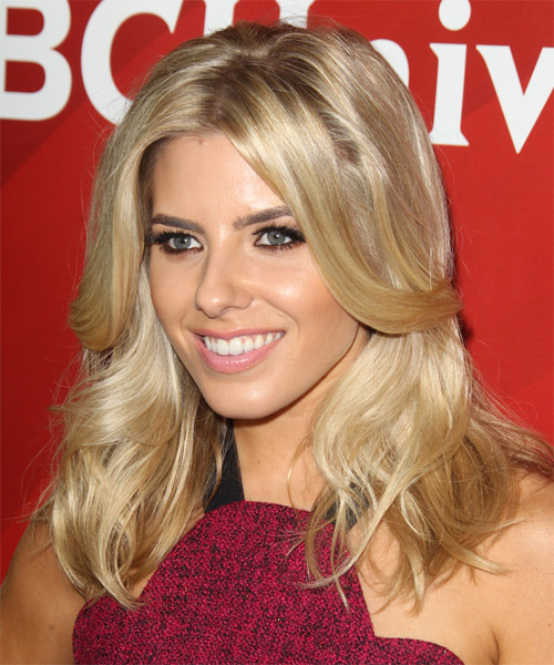 Mollie King Long Straight Formal Hairstyle Blonde Hair Color