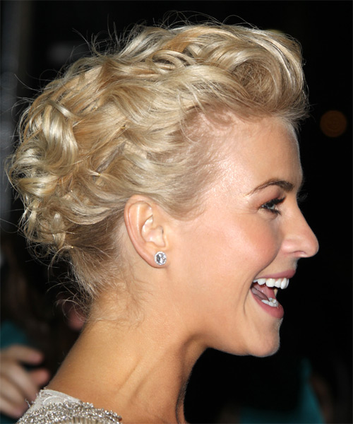 Julianne Hough Long Curly Formal Updo Hairstyle Light