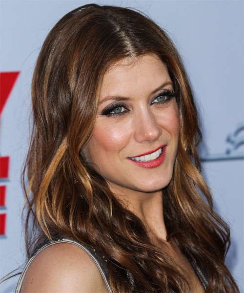 Kate Walsh Long Wavy Casual Hairstyle Brunette Hair