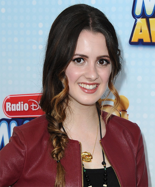 Laura Marano Long Curly Casual Braided Half Up Hairstyle